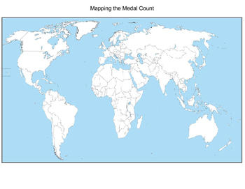 2016 Rio Olympics - Map the Medal Count!