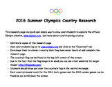 2016 Rio Summer Olympics Country Research page.