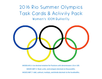 2016 Rio Summer Olympics Task Cards and Activity Pack