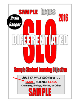 2016 SLO . . .  DIFFERENTIATED . . . for SMALL science class 94-PAGES