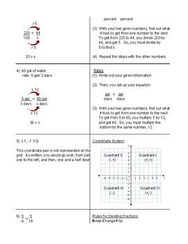 2016 STAAR ASSESSMENT 6th Grade Math Test Detailed Answer Sheet