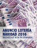 2016 Spanish Christmas lottery activity - Breakout Box Sorteo de Navidad