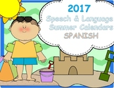 2017 Summer Articulation and Language Calendars! SPANISH!
