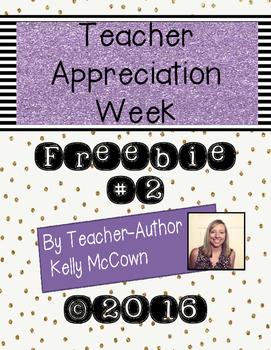 2016 Teacher Appreciation Week FREEBIE #2
