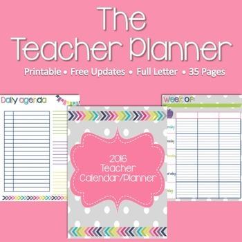 2016 Teacher Calendar/Planner