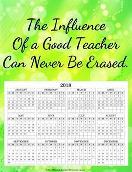 2017 Teacher Calendar Posters