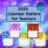 2018 Teacher Calendar Posters