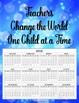 2016 Teacher Calendar Posters