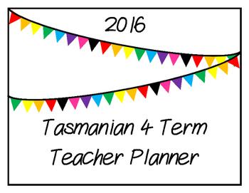 2016 Teacher Planner: Tasmanian (Flag Theme)