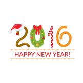 2016, XMas, data, New Year. clipart, vector graphic, Monke