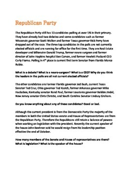 2016 presidential election overview update october 1 candidates parties