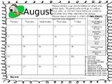 2017-18 Behavior Calendar B/W and Color Versions