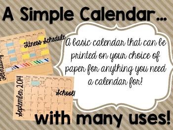2017-18 Brown Paper Calendar