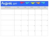 2017-18 Curriculum Planning Calendar- EDITABLE