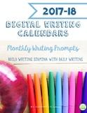 2017-18 Digital Writing Calendars