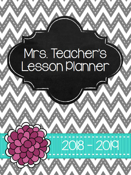 2017-18 Gray, Turquoise and Pink Editable Planner