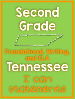 2017-18 Second Grade Tennessee State Standard ELA 'I Can' Posters