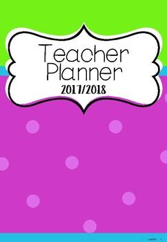 2017-18 Teacher Planner/Binder
