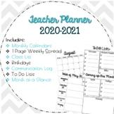 2018-2019 Teacher Planner / Calendar Free Updates!
