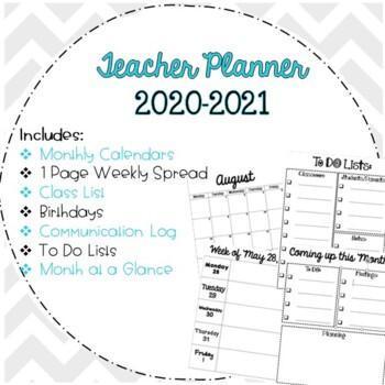 2017-2018 Teacher Planner / Calendar Free Updates!