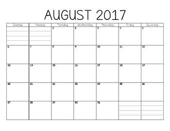 2017-2018 Academic Calendar