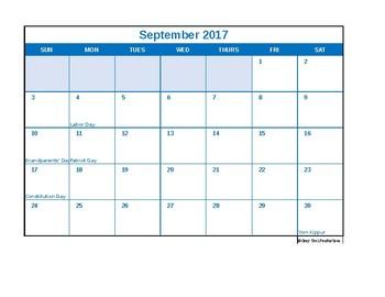 2017-2018 Calendar Bundle