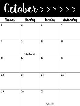 2017/2018 Agenda Calendar