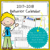 2017-2018  Behavior Calendar & Behavior Chart Cards