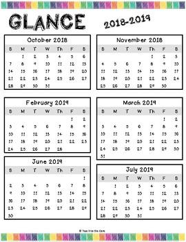2017-2018 COLOR/CHEVRON Teacher Plan Book