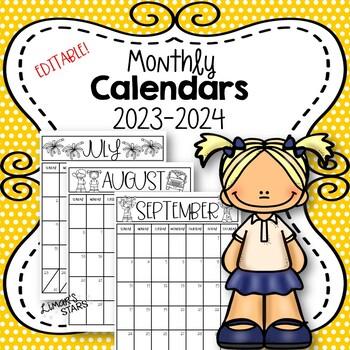 2018-2019 Calendar {EDITABLE}