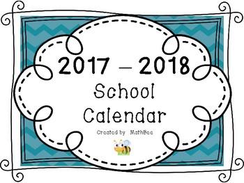 2017 - 2018 Calendar