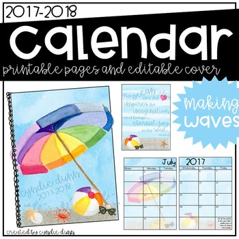 2017-2018 Calendar - Beach