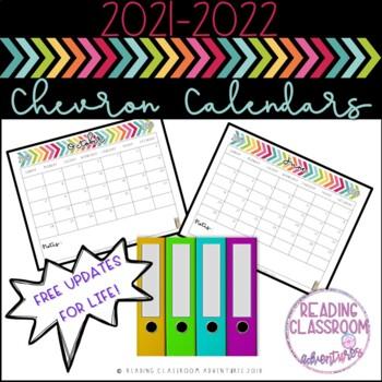 Calendars: Black & White Chevron