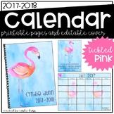 2017-2018 Calendar - Flamingos