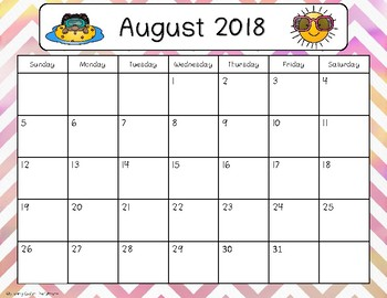 2017-2018 Calendar {Freebie}