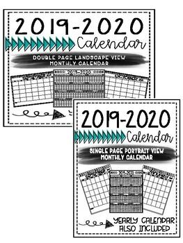 2018-2019 Calendar Pages