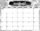 2017-2018 Calendar Pages: Black & White