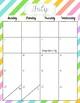 2017-2018 Calendar- Striped
