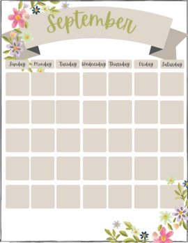 FREE 2017-2018 Calendar for Teacher Binder