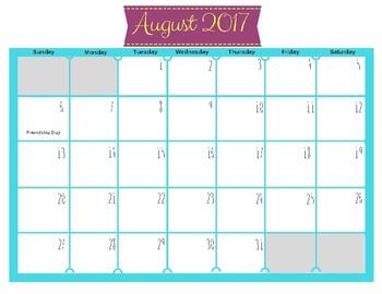 2017 - 2018 Calendars