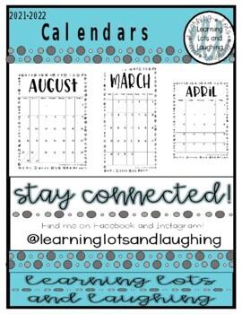 2017-2018 Calendars