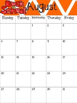 2017-2018 Chevron School Calendar