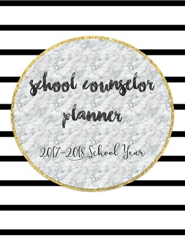 2017 2018 Complete School Counselor Planner Black White