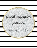 2017-2018 Complete School Counselor Planner - Black, White