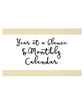 2017-2018 Complete School Counselor Planner - Mint & Gold Theme