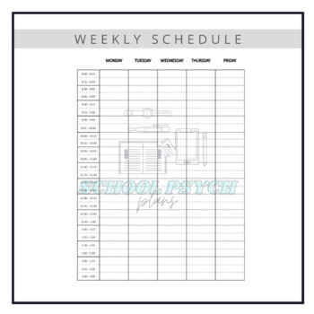 2017-2018 Daily Weekly Planner Schedule