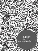 2017-2018 Editable Black & White Planner