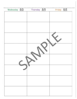 2017-2018 Editable Lesson Planner (Binder)