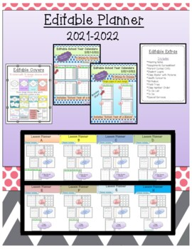 2017-2018 Editable Lesson Planner (Binder)