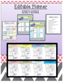 2018-2019 Editable Lesson Planner (Binder)